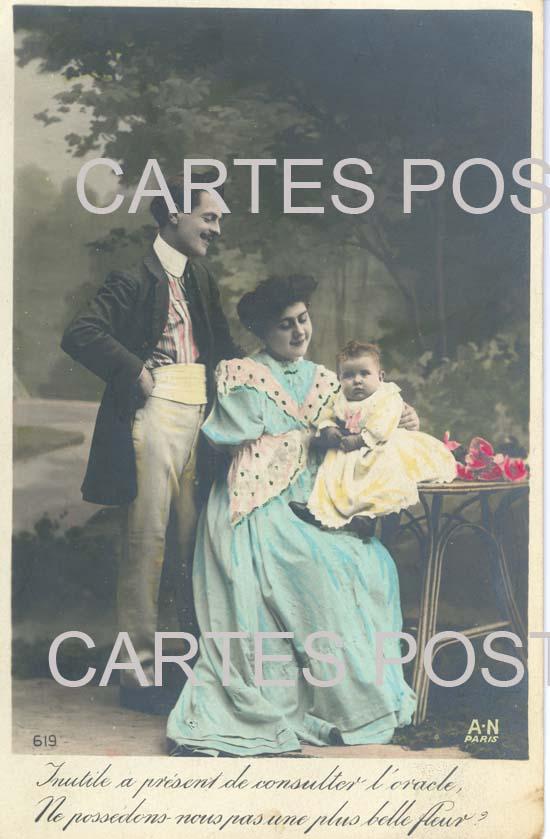 Cartes Postales Anciennes Personnages fantaisie Couple