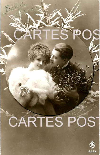 Old postcards fantasy personages Couple