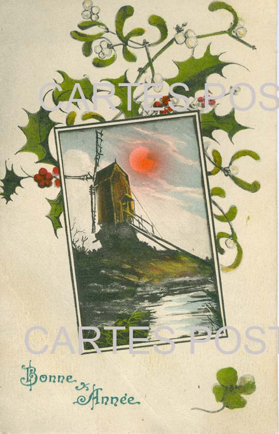 Old postcards fantasy Nouvelle année