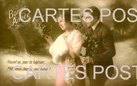 Old postcards fantasy personages