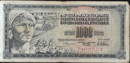 Cartes Postales Anciennes Autres collections  billets de banque
