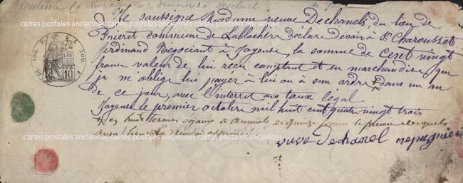 Cartes Postales Anciennes Timbres fiscaux