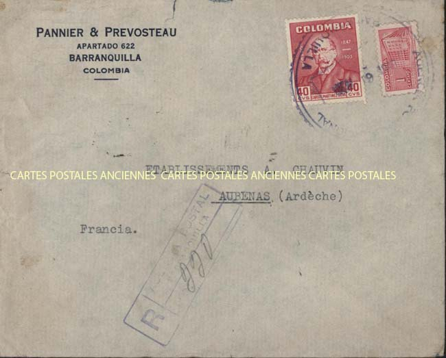 Timbres postes Collection stamps france Postage stamps collection English postage stamps Colombie