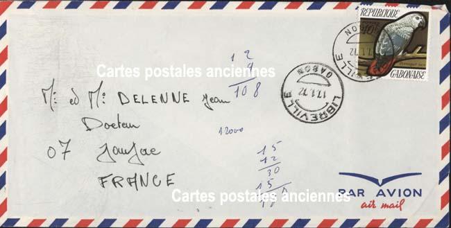 Autres collections  philatélie  timbres Marques postales  République gabonaise