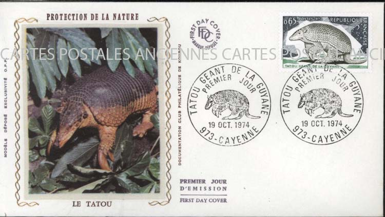 Timbres postes Collection stamps france Guyanne