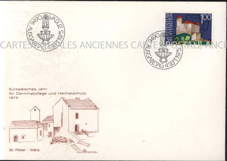 Autres collections  philatélie  timbres Marques postales  Lichtenstein Lichtenstein premier jour   marque postale