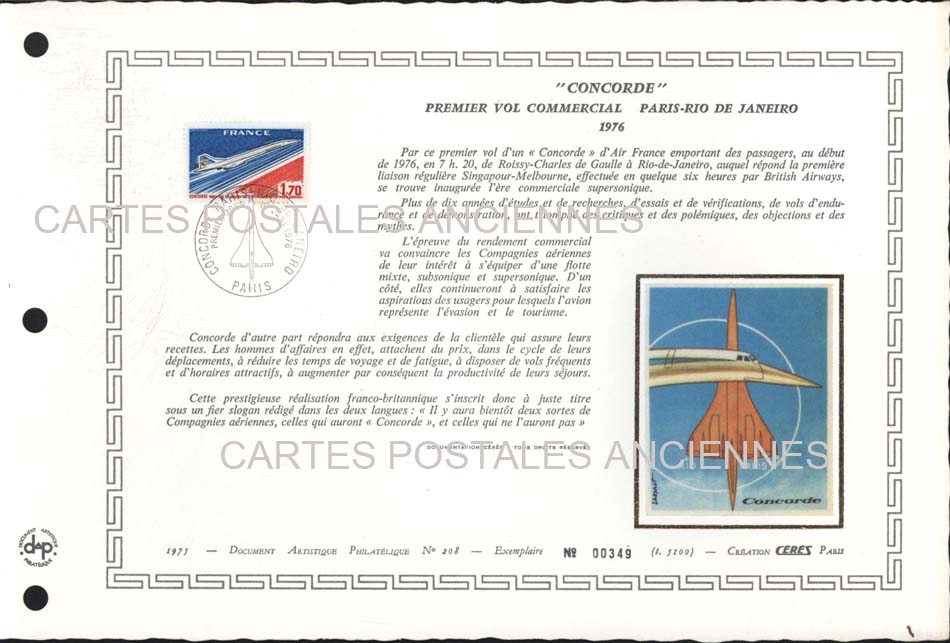 Timbres postes Collection stamps france France premier jour marque postale aviation