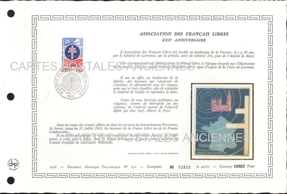 Timbres postes Collection stamps france Premier jour marque postale militaire