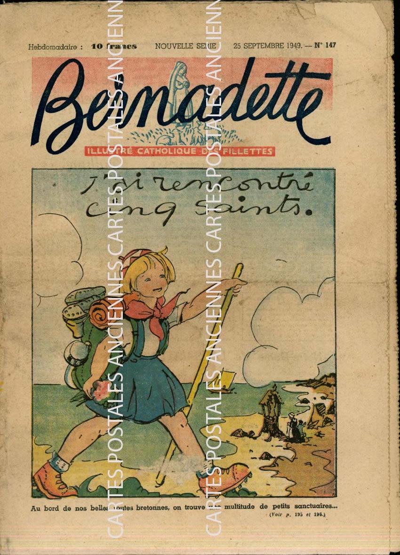 Cartes Postales Anciennes France Revue Revue bernadette