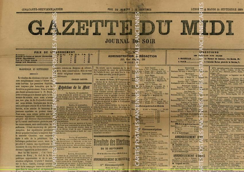 Cartes Postales Anciennes France Revue Revue gazette du midi