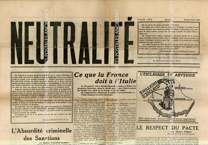 Cartes Postales Anciennes France Revue Revue neutralité