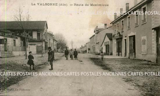 LA VALBONNE - Route de Meximieux, d�partement de l'Ain.Carte Postale Ancienne.