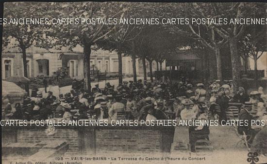 Rh�ne Alpes, 07 , Ard�che<br>VALS LES BAINS - La Terrasse du Casino � l'heure du Concert