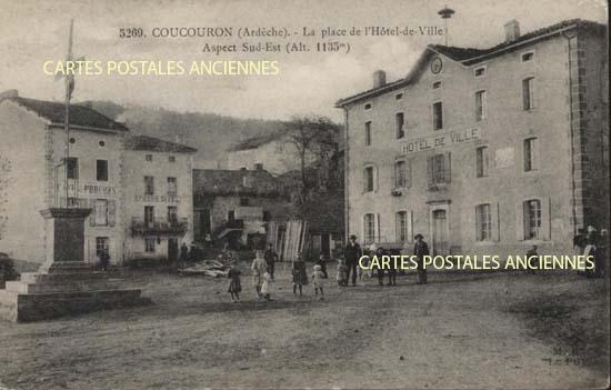 Rh�ne Alpes, 07 , Ard�che<br>Carte postale ancienne de l'Ard�che 07, Coucouron