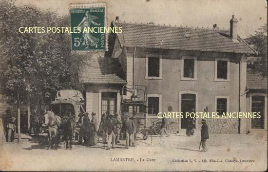 Rh�ne Alpes, 07 , Ard�che<br>Carte postale ancienne de l'Ard�che 07, Lamastre, la gare