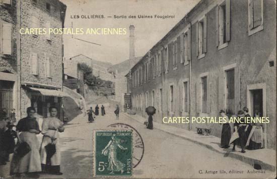 Rh�ne Alpes, 07 , Ard�che<br>Carte postale ancienne de l'Ard�che 07, Les Olli�res Sur Eyrieux