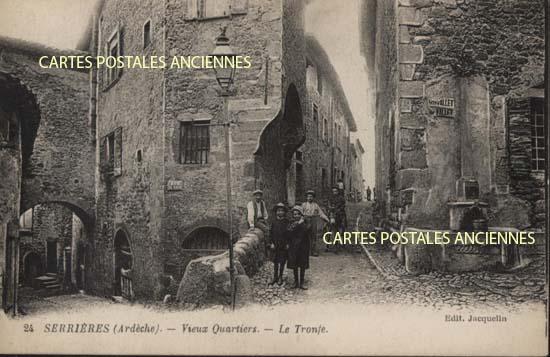 Rh�ne Alpes, 07 , Ard�che<br>Carte postale ancienne de l'Ard�che 07, Serrieres -