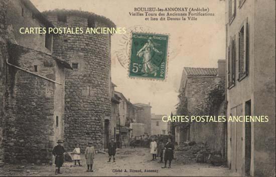 Rh�ne Alpes, 07 , Ard�che<br>Carte postale ancienne de l'Ard�che 07, Boulieu Les Annonay