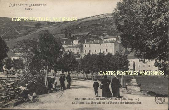 Rh�ne Alpes, 07 , Ard�che<br>Carte postale ancienne de l'Ard�che 07, St Cirgues en Montagne