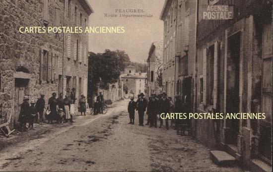 Rh�ne Alpes, 07 , Ard�che<br>Carte postale ancienne de l'Ard�che 07, Peaugres