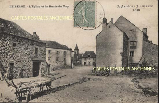 Rh�ne Alpes, 07 , Ard�che<br>Carte postale ancienne de l'Ard�che 07, LE BEAGE
