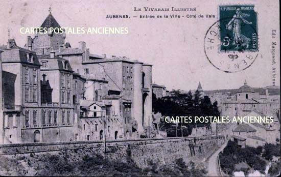 CARTE POSTALE, AUBENAS, ARDECHE