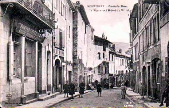 Grande Rue, la poste et l'H�tel de Ville