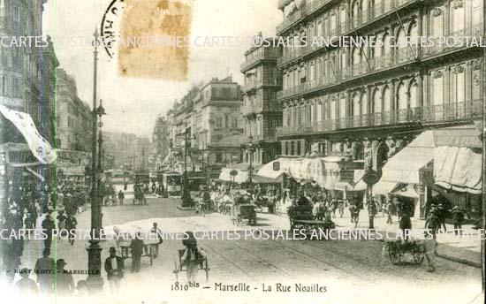 Carte postale ancienne, Marseille rue Noailles, Bouches du Rh�ne, 13