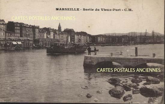 Carte postale ancienne des Bouches du Rh�ne, 13  MARSEILLE VIEUX PORT