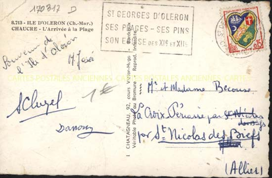 cartes postales anciennes carte postale charente maritime. Black Bedroom Furniture Sets. Home Design Ideas