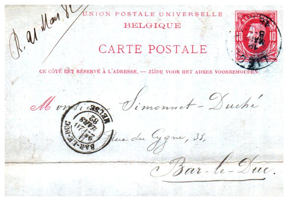 Liege en Belgique 1882