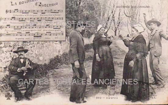 BOURREE D' AUVERGNE CARTE POSTALE ANCIENNE
