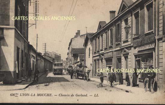 Carte postale AncienneLyon, La Mouche, Chemin de Gerland