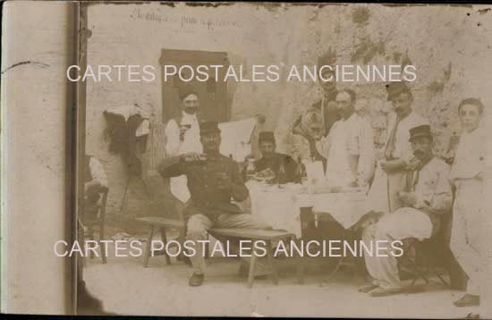 Carte postale Souvenir Militaire